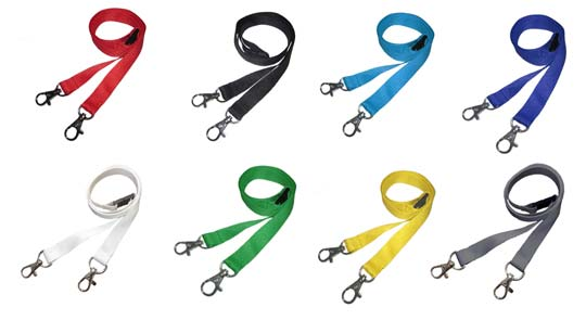 double clip lanyards