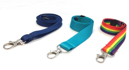 unprinted plain lanyard